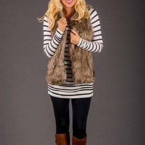 Zara Warm Wear Faux Fur Vest